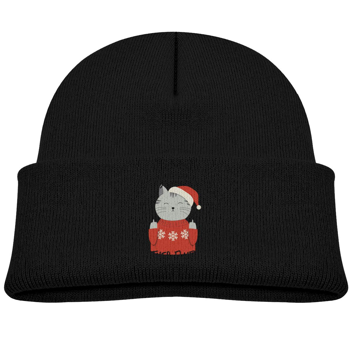 Meowy Christmas Mother Fluffer Infant Skull Hat Kids Beanies Cap