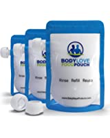 5 Six Ounce Body Love Reusable Food Pouches - For Healthy Eating-Weight Loss- Bonus Smoothie Recipe Ebook