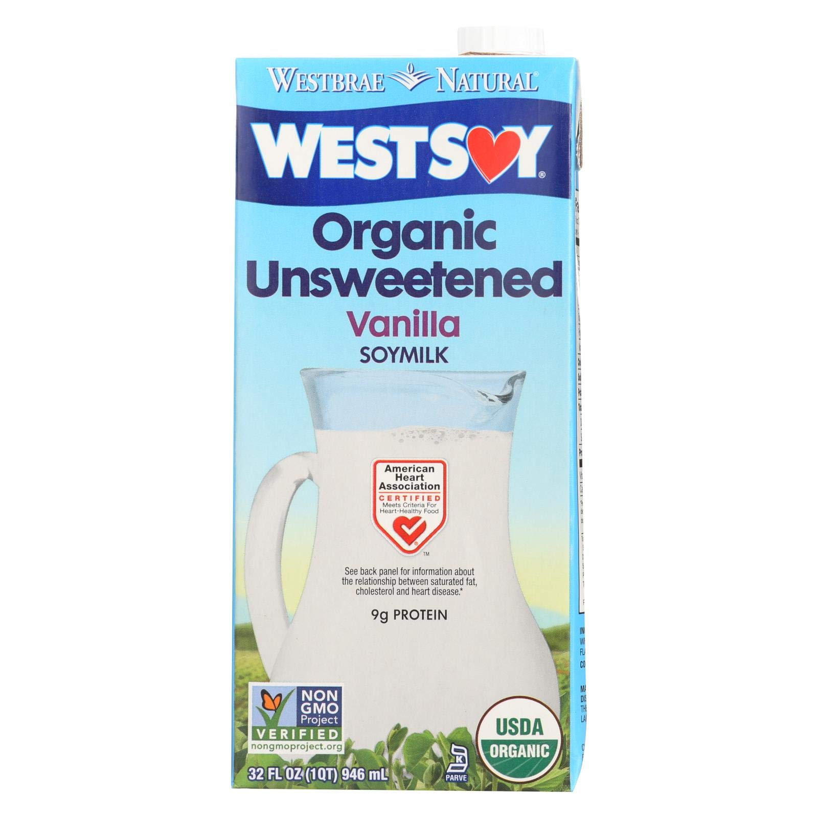 Westsoy Organic Vanilla Unsweetened Westsoy ( 12x32 OZ) by West Soy