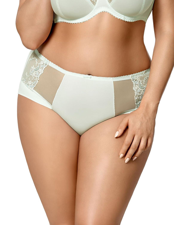 Gorsenia K429 Women's Laguna Mint Green Embroidered Panty Full Brief