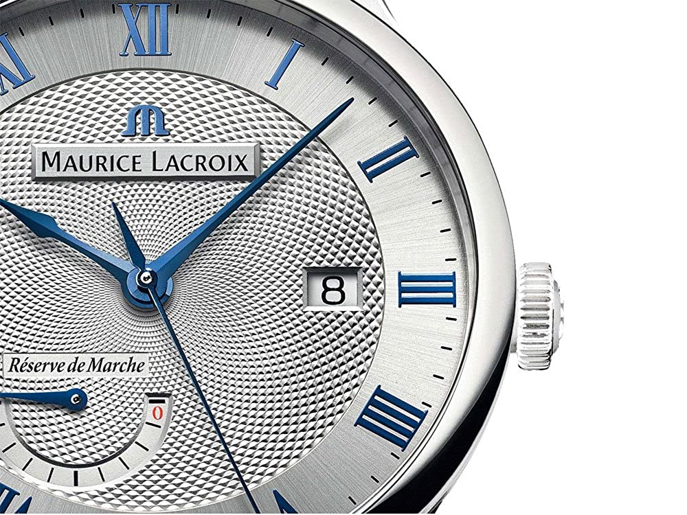 Amazon.com: Maurice Lacroix Masterpiece Réserve de Marche Automatic Watch, Silver, ML 113: Watches