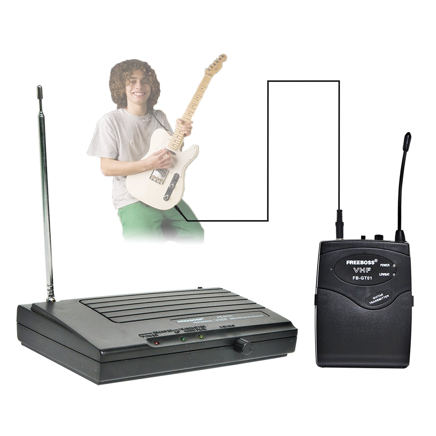 FREEBOSS FB-GT01 Guitar Wireless Microphone (Only for Guitar) QIYANG