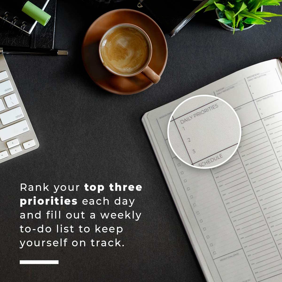 Simple Layout and Highest GSM Paper for Daily Use. Prompts Help You Become The Best Version of Yourself 12 Month Undated Planner for 2020 8.5 x 11 Inches Hourly to Improve Productivity