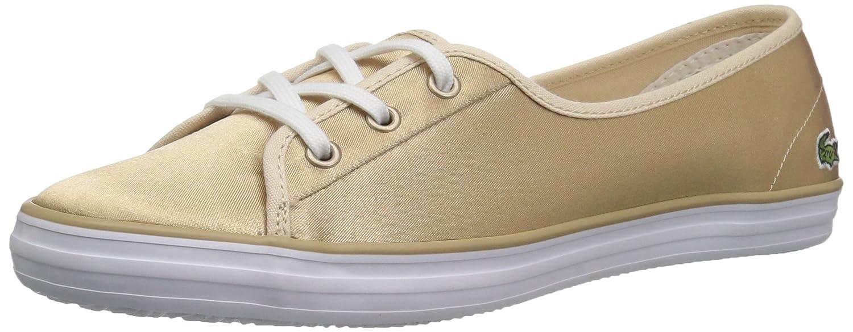 Lacoste Women's Ziane Chunky Sneakers B072R3ZTBH 5 B(M) US|Gold/White Textile