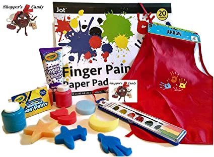 Kids//Baby 6 Colors None Toxic Finger Painting Paints Educational Toy Playset
