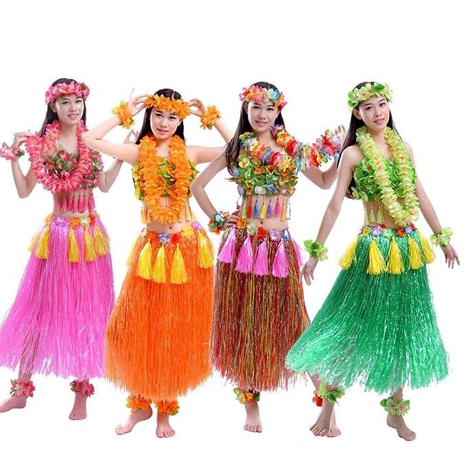 Seasaleshop Traje Fiesta Hawaiana Disfraces Falda Hula ...