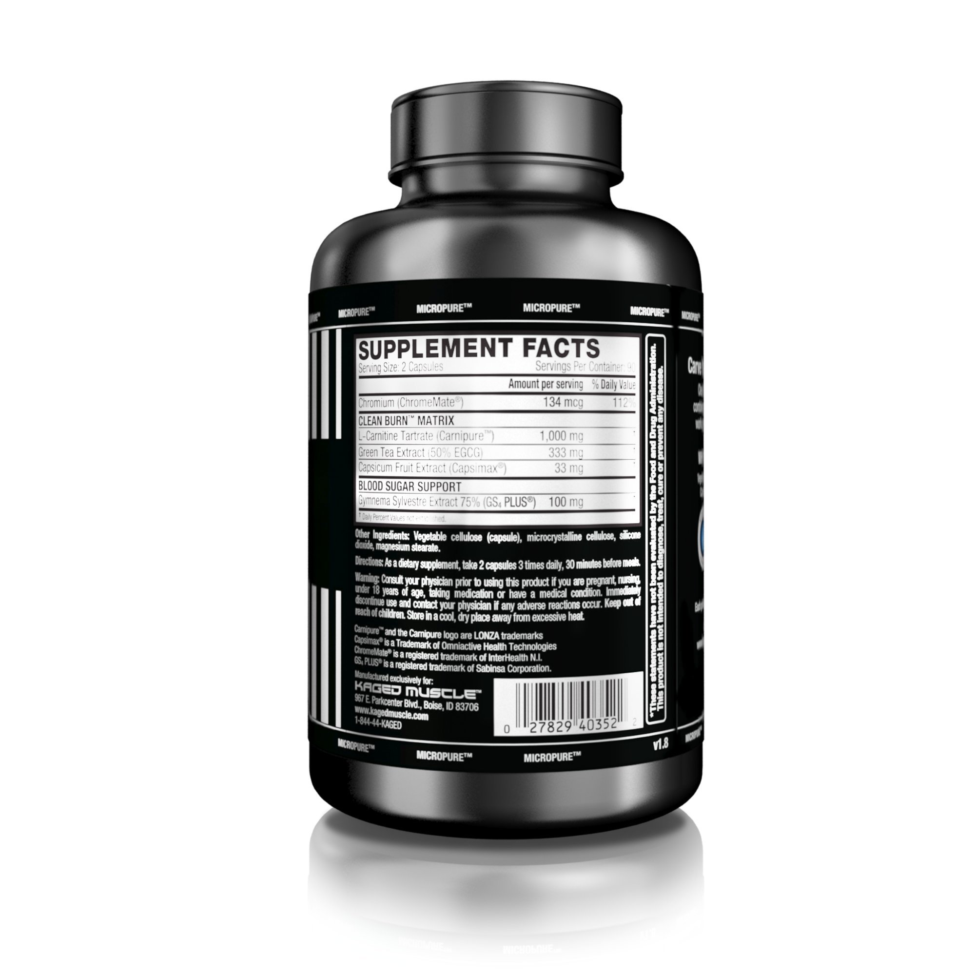 Kaged Muscle, Clean Burn Stimulant-Free Weight Loss Supplement for Men & Women, 180 Veggie Diet Pills by Kaged Muscle (Image #2)
