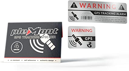 Plemont Set de 4 Pegatinas GPS con protección antirrobo para Coche ...