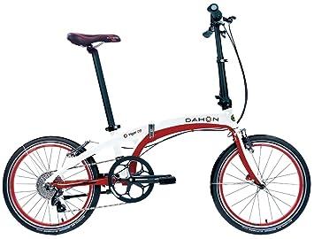 Dahon Bicicleta Plegable de vigor D9 2016 unisex, color blanco/rojo, ...