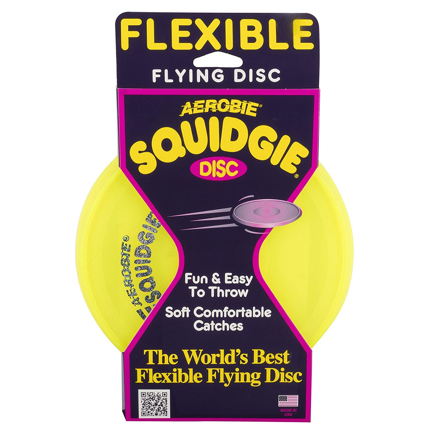 Aerobie Squidgie Flying Disc | 3-Pack | Colors May Vary by Aerobie