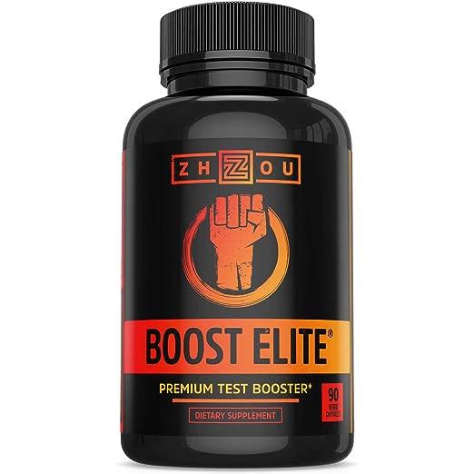 BOOST ELITE Test Booster Formulated to Increase T-Levels & Energy - 9 Powerful Ingredients Including Tribulus, Fenugreek, Yohimbe, Maca & Tongkat Ali, 90 Veggie Caps.