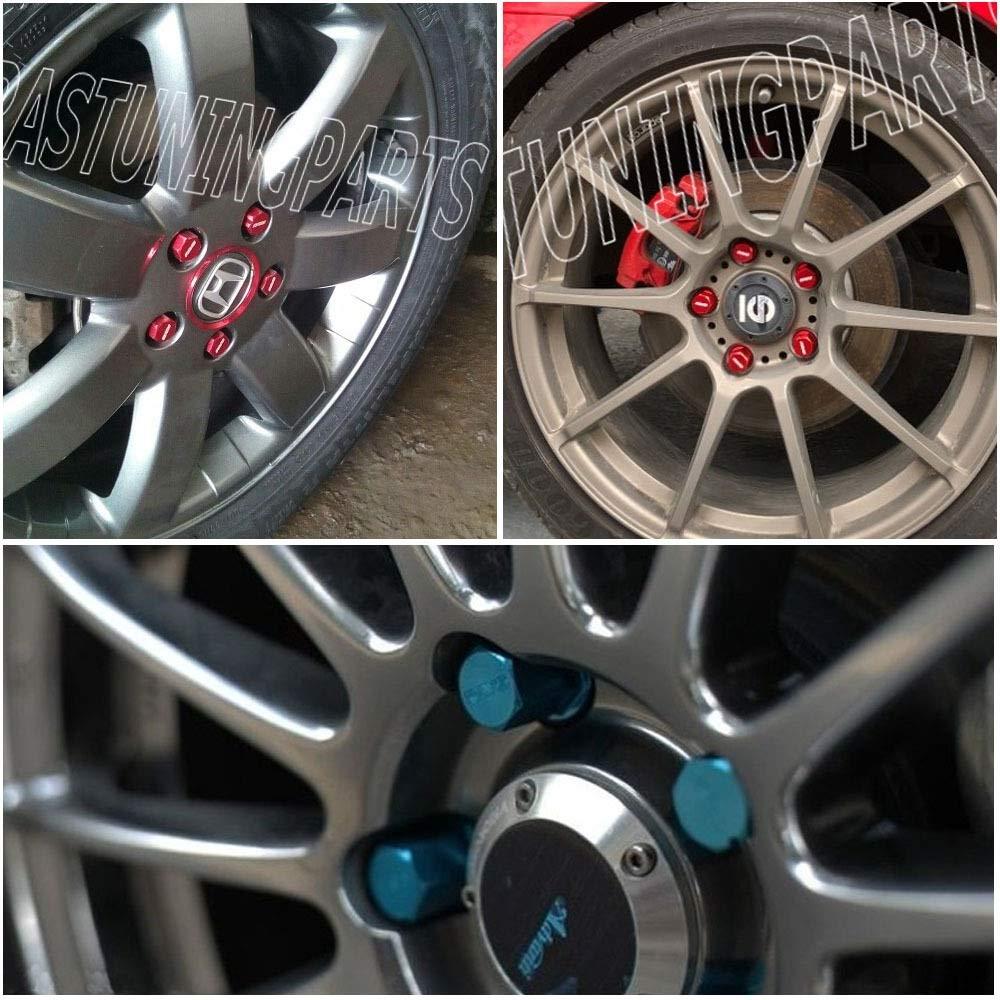 Bolzen Performace Alu-Radsicherungsmuttern Racing Radmuttern L/änge 35MM 12x1,5//1,25 Color : Black, Size : M12x1.25 L-Yune