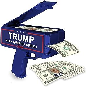 NINOSTAR Donald Trump Money Gun | Keep America Great 2020 Re-Election Cash Spray| Rain Money Shotter | Pack of 100 Presidential Dollar Bill…