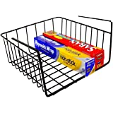 DecoBros Under Shelf Basket Wrap Rack, Bronze