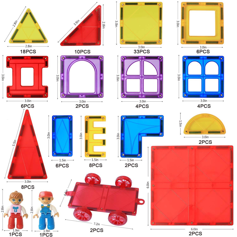 Magblock 115 PCS Magnetic Blocks, Magnetic Tiles Building Blocks for Kids Toy,Magnet Toys Set 3D Building Blocks for Toddler Boys and Girls by Magblock (Image #1)