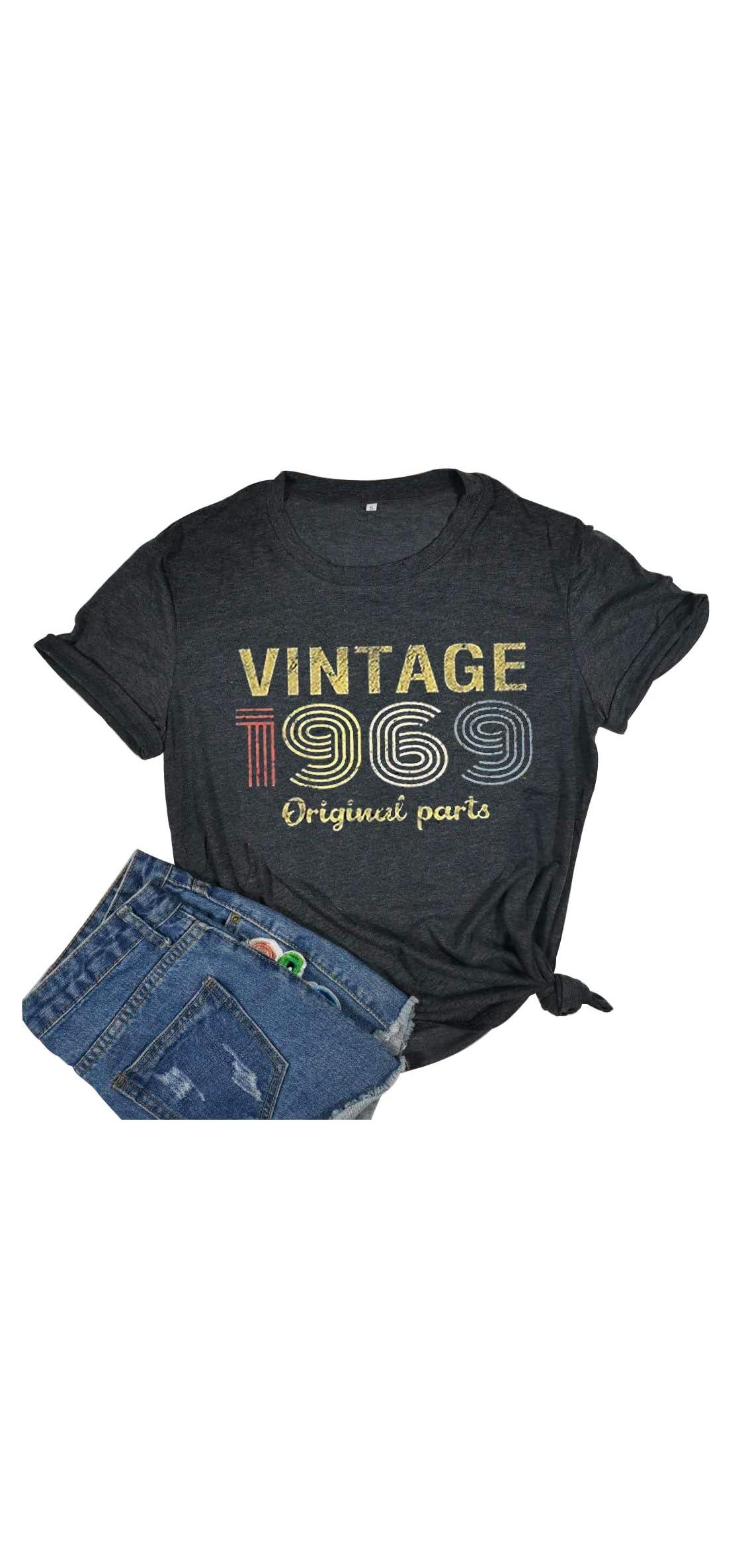 Vintage  Original Parts T Shirt Women Th Birthday Gift Top