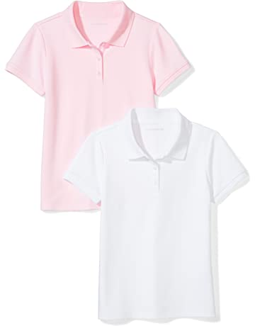 549dd693a Amazon Essentials Girls' Short-Sleeve Uniform Interlock Polo