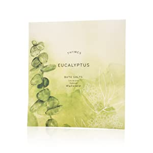 Thymes - Eucalyptus Bath Salts - Soothing Combination of Epsom and Sea Salt for Relaxing Bath Soak - 2 oz