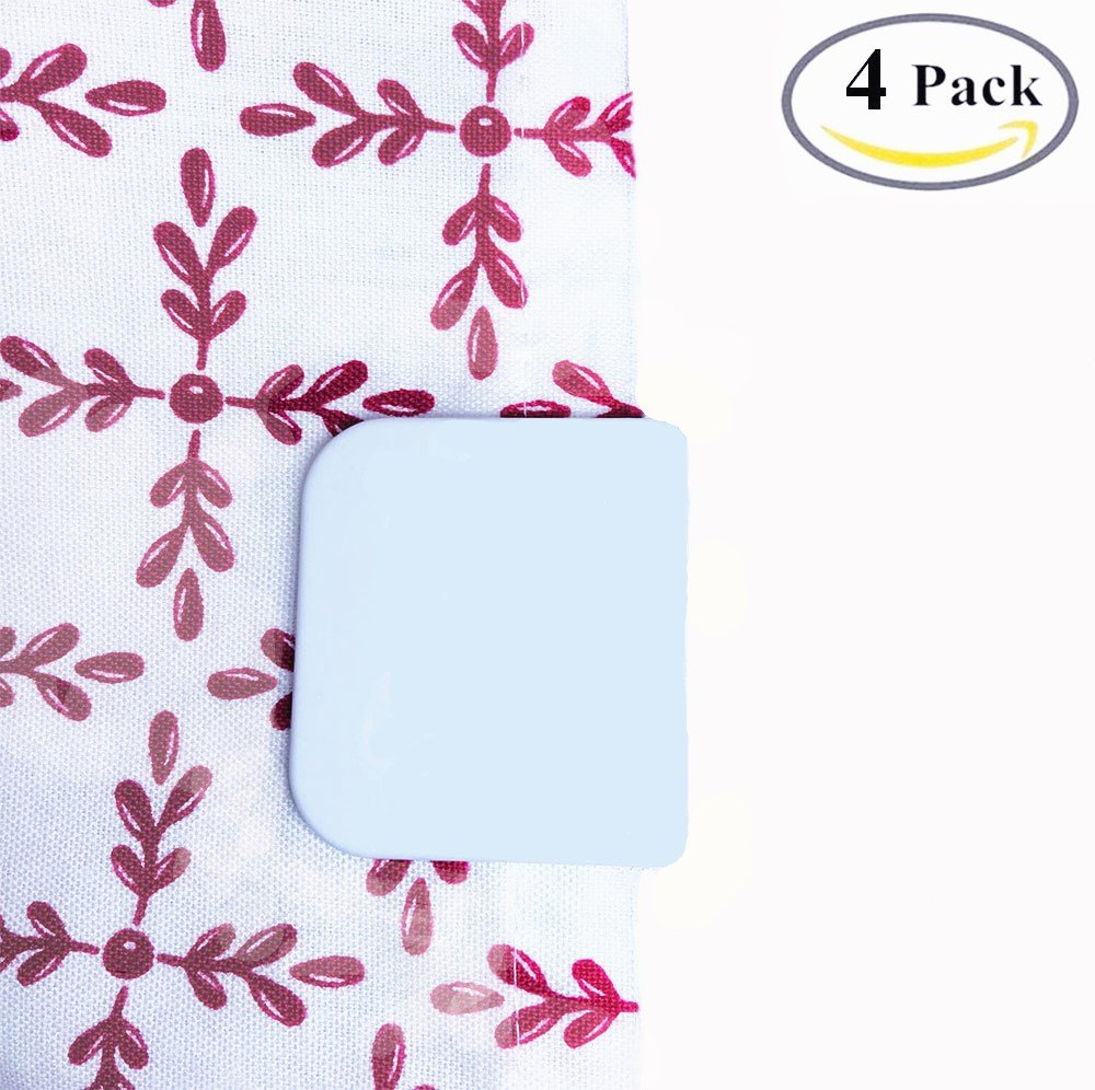 Amazon.com: BoomYou 4 Pack Anti Splash Self-Adhesive Shower Curtain ...