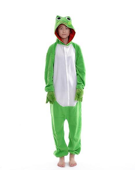 DAYAN Rana Unisex Pijamas Adulto Anime Cosplay Ropa Pijamas Franela Hombre Mujer Dormir Animal Pyjama Caliente