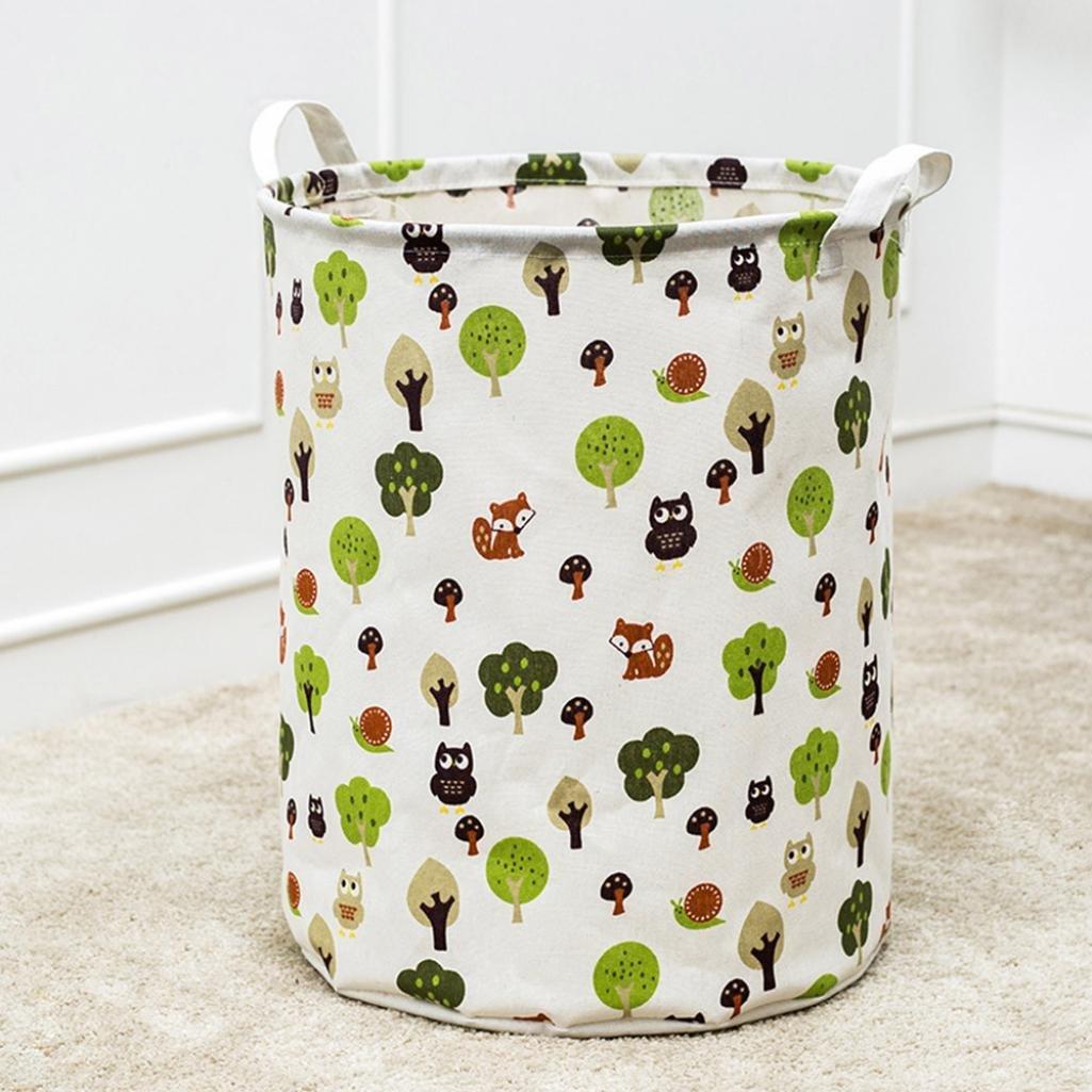 hkfv diseño creativo impermeable lienzo lavandería Cesto de la ropa ...