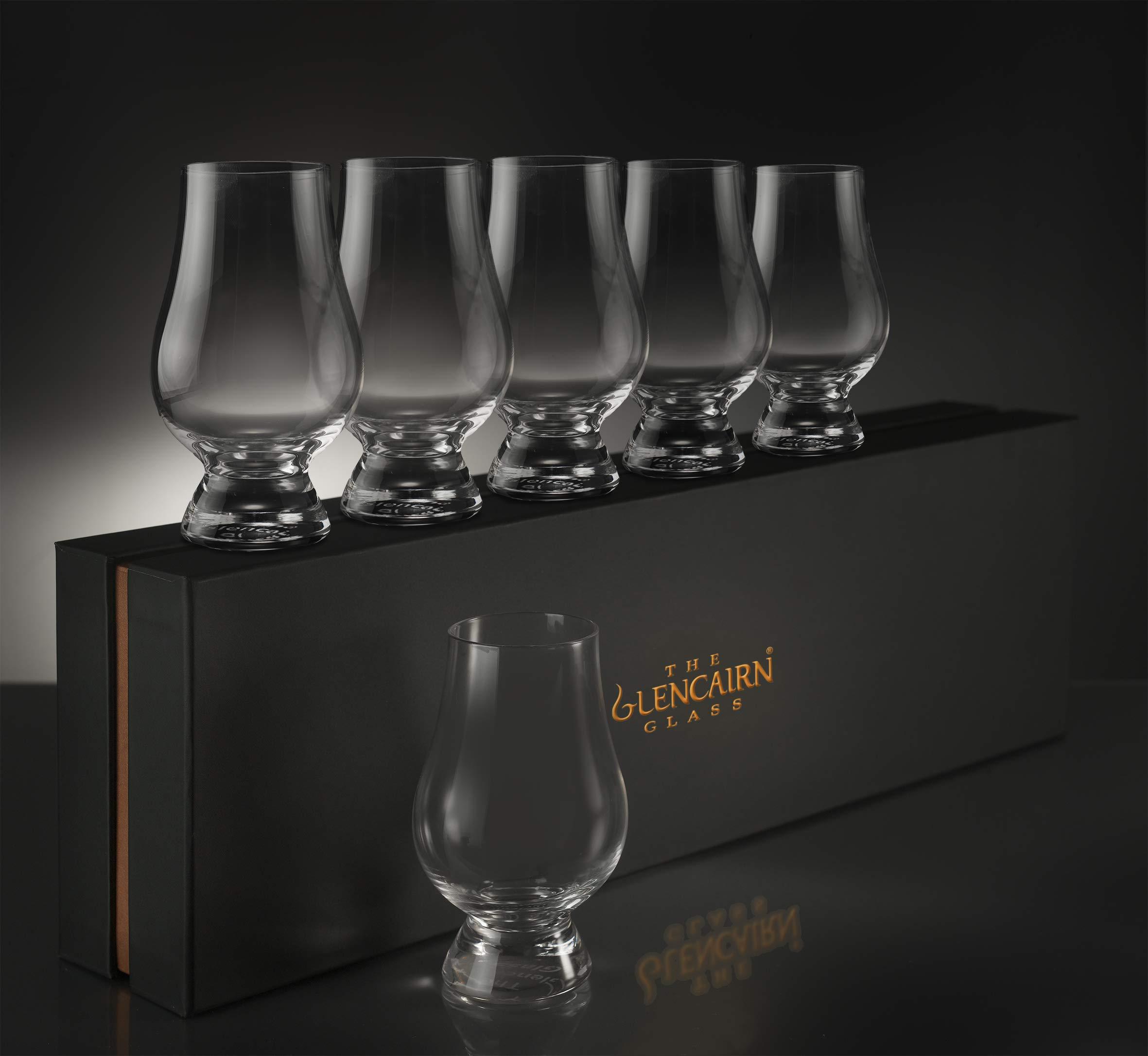 Glencairn Whiskey Glass Set of 6 in Deluxe Velvet Gift Box by Glencairn