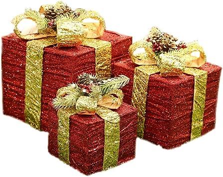 BHJqsy Caja de Regalo del Ornamento de Navidad Caja de Regalo ...