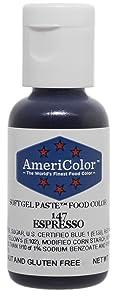 Americolor Soft Gel Paste Food Color, Espresso, .75 Ounce Bottle