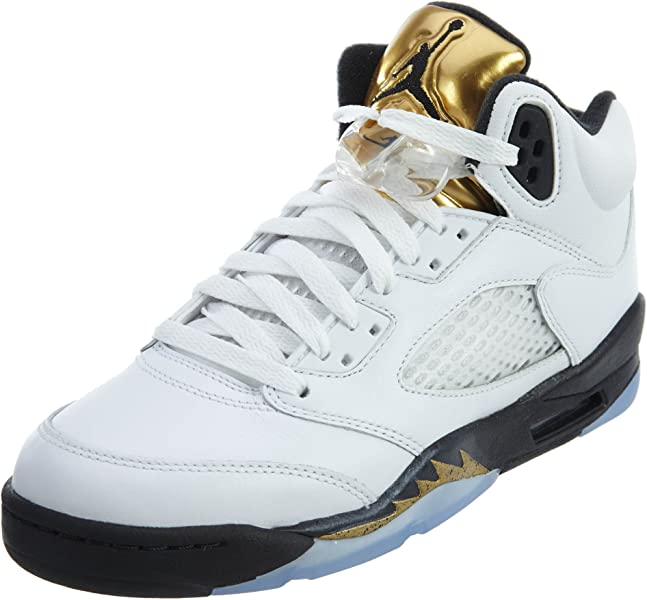 0ff31e9d81367 Big Kids Air Jordan 5 Retro Basketball Shoe