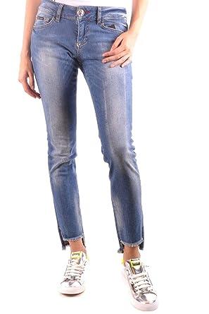 b3eaec492e3 Philipp Plein Femme MCBI35852 Bleu Coton Jeans  Amazon.fr  Vêtements ...