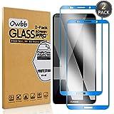 Owbb [2 Pièces] Film Protecteur D'écran en Verre Trempé pour Huawei Mate 10 Pro Bleu Foncé Couverture Complète Protection 99% Haute Transparent Anti-Déflagrant