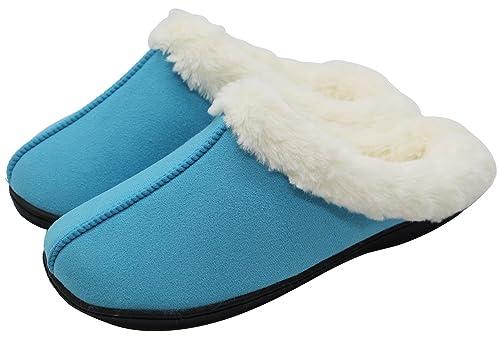 Luxehome Womens Cozy Fleece Plush House Slipper101  B00MZRY8MC