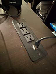 Conference Recessed Power Strip Socket With 3 Ac Outlets 2