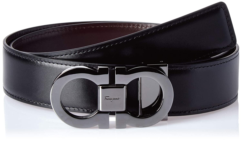 6f3340a3b Amazon.com: Salvatore Ferragamo Men's Double Gancini Reversible Belt:  Clothing