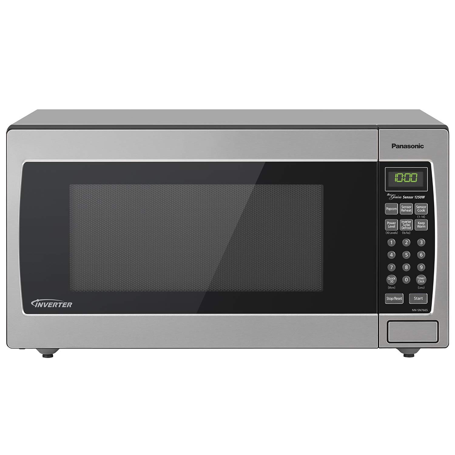 Panasonic Microwave Oven NN-SN766S Stainless Steel Countertop/Built-In with Inverter Technology and Genius Sensor, 1.6 Cu. Ft, 1250W (Renewed)
