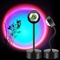 Sunset Lamp, KW Sunset Projection Light LED Night Light, 360 Degree Flexible Rotation Projector Light, USB Floor Stand…