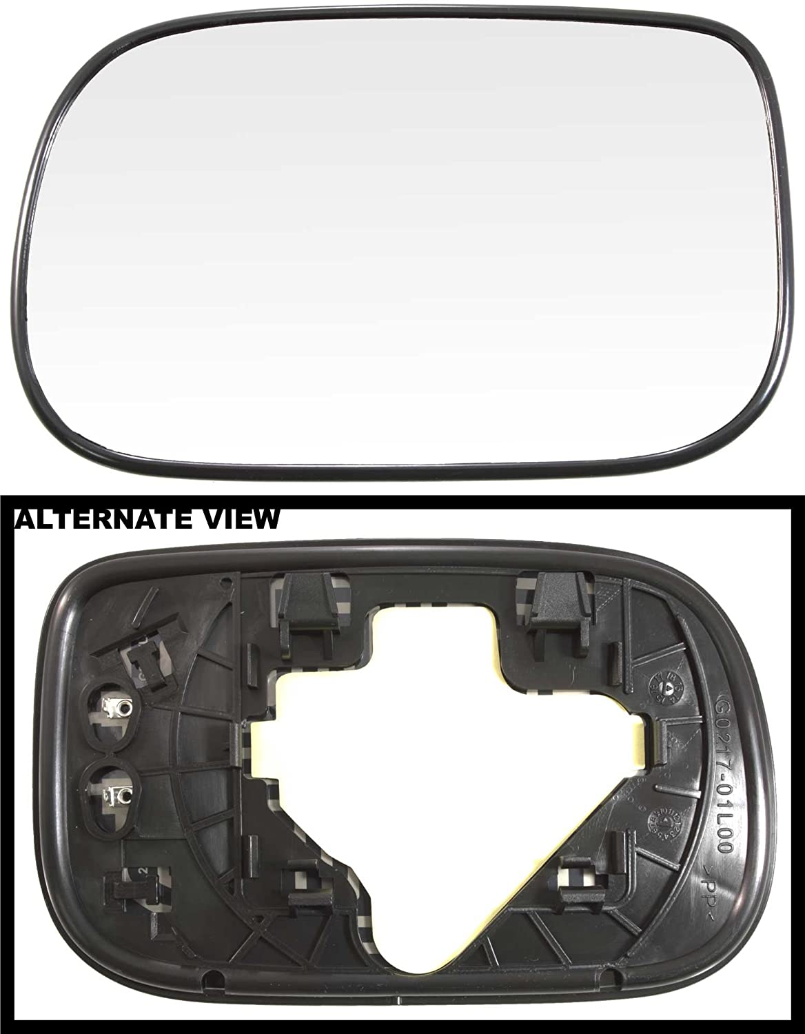 APDTY 67497 Replacement Side View Mirror Glass Fits Left Driver ...