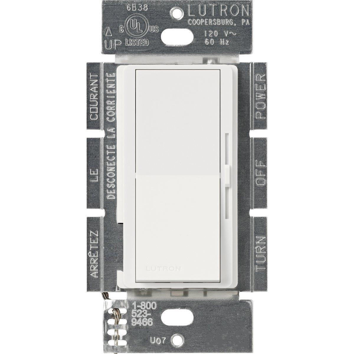 Lutron DVLV-600P-WH 600-Watt Diva Magnetic Low-Voltage Single-Pole ...
