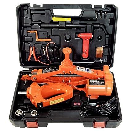 Amazon Com Captiankn Car Jack Kit Maximum Load 3 Tons 12v Electric