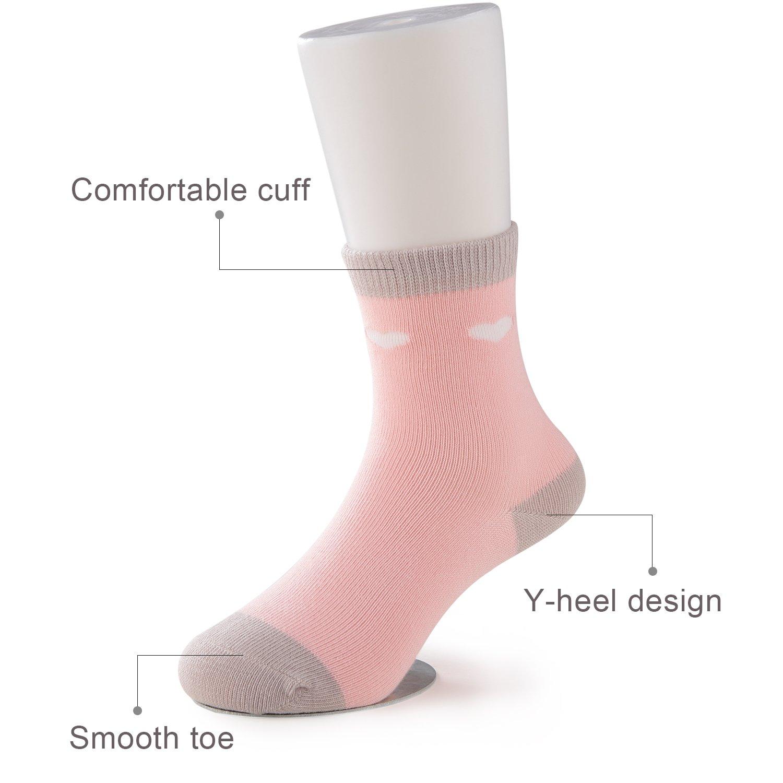 SUNBVE Little Girls' Sweet Fancy Cotton Casual Crew Socks 5 Pairs Pack by SUNBVE (Image #6)