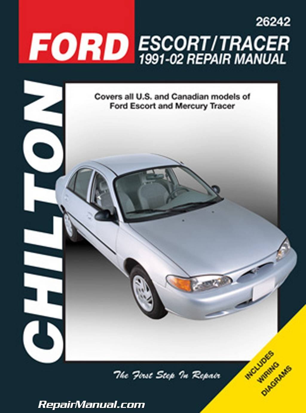 CH26242 Chilton Ford Escort & Mercury Tracer, 1991-2002 Repair Manual:  Manufacturer: Amazon.com: Books