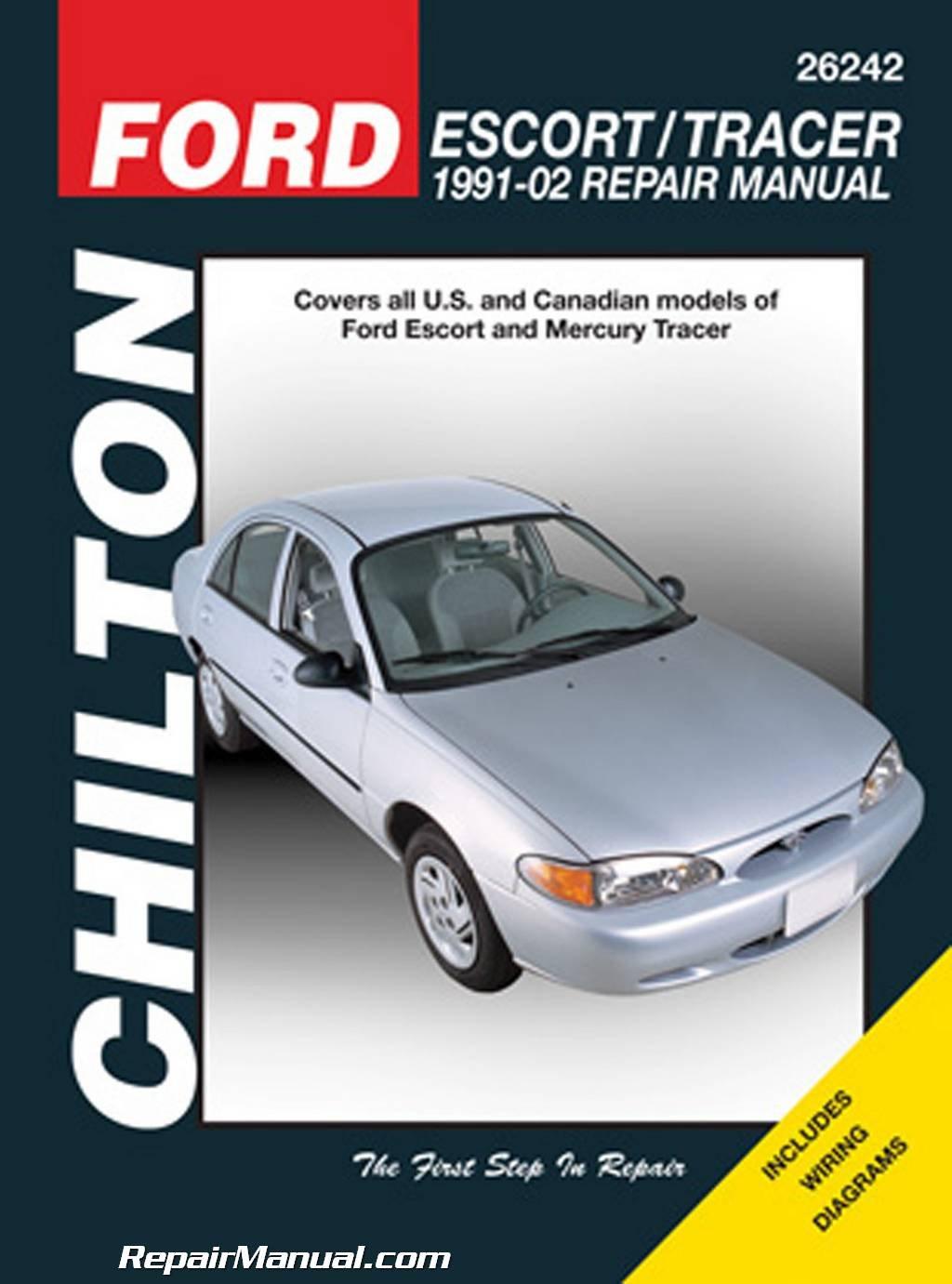CH26242 Chilton Ford Escort & Mercury Tracer, 1991-2002 Repair Manual:  Manufacturer: Amazon.com: Books