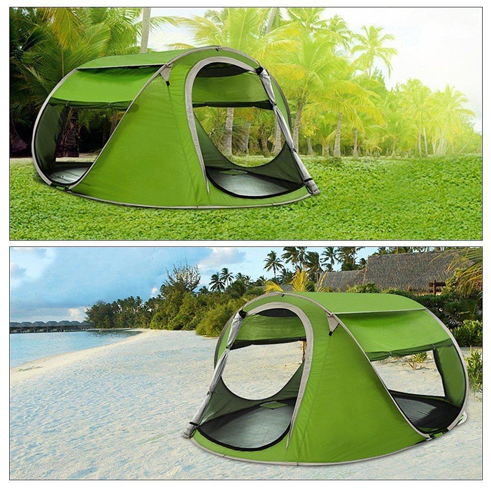 Pop Up Tent Beach Cabana & Cinch Pop-up Tent with solar power u0026 LED honest reviews | Gadgets ...