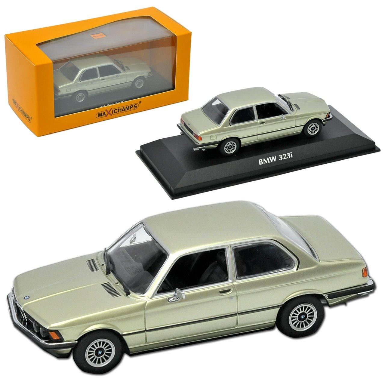 BMW 3er E21 323i Coupe Grün Metallic 1975-1983 1/43 Minichamps Maxichamps Modell Auto mit individiuellem Wunschkennzeichen