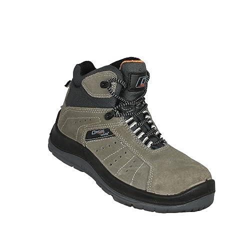 Opsial - Zapatos con Cordones de Cuero Hombre, Color Gris, Talla 38 EU