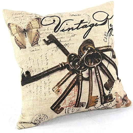 Cotton Linen MOEKI decorativo para almohada para funda para ...