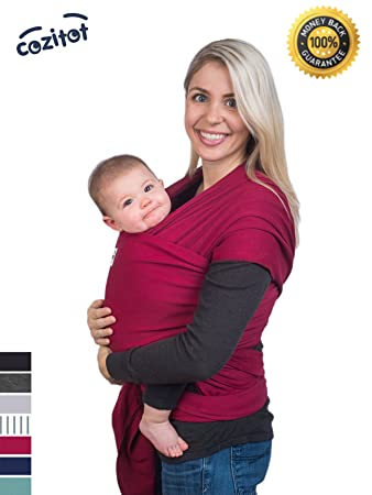 Amazon Com Dark Red Baby Sling Carrier Wrap By Cozitot Soft