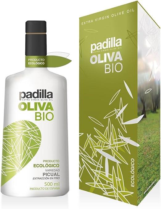Aeite de Oliva Virgen Extra Ecológico Padilla Bio 500 ML (con estuche): Amazon.es: Alimentación y bebidas