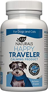 product image for Ark Naturals Happy Traveler Capsules, Natural Calming Treats for Dogs and Cats, Reduces Anxious and Nervous Behavior, 30 Count, Packaging May Vary