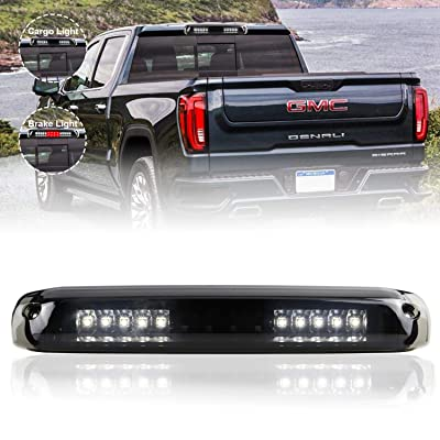 Sanzitop LED Third Brake Light Cargo Lamp Tail Light fit for 99-06 Chevrolet Silverado/GMC Sierra 1500-3500 HD, 2007 Chevrolet Silverado/GMC Sierra 1500-3500 HD Classic (Black Housing Smoke Lens): Automotive